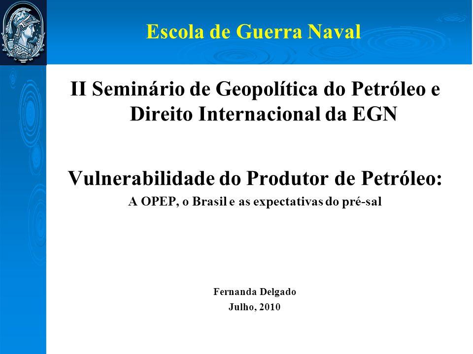 II Seminário de Geopolítica do Petróleo e Direito Internacional da EGN