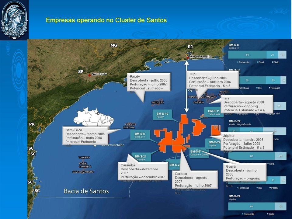 Empresas operando no Cluster de Santos