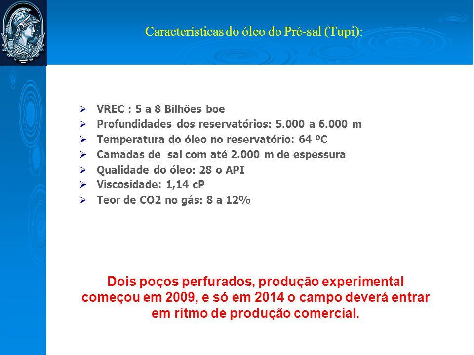 Características do óleo do Pré-sal (Tupi):