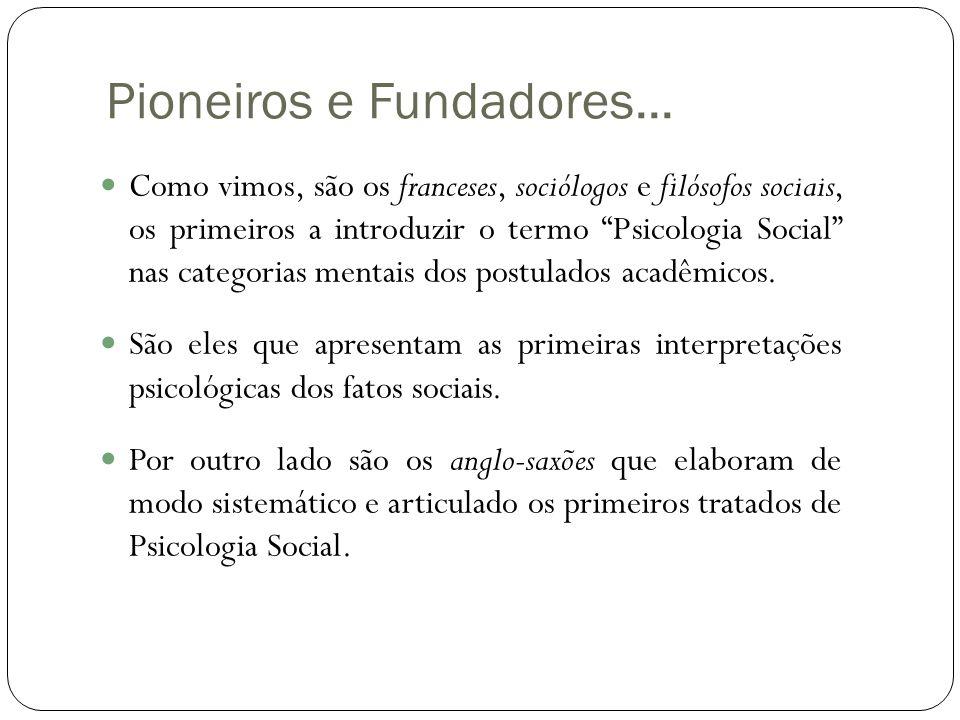 Pioneiros e Fundadores...