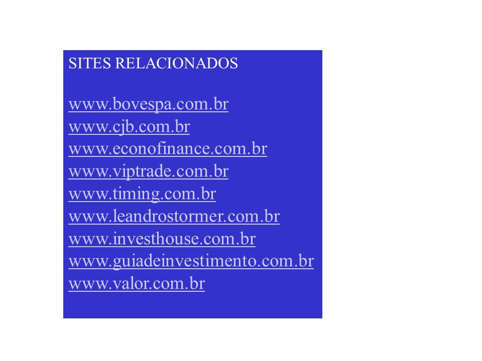 www.bovespa.com.br www.cjb.com.br www.econofinance.com.br