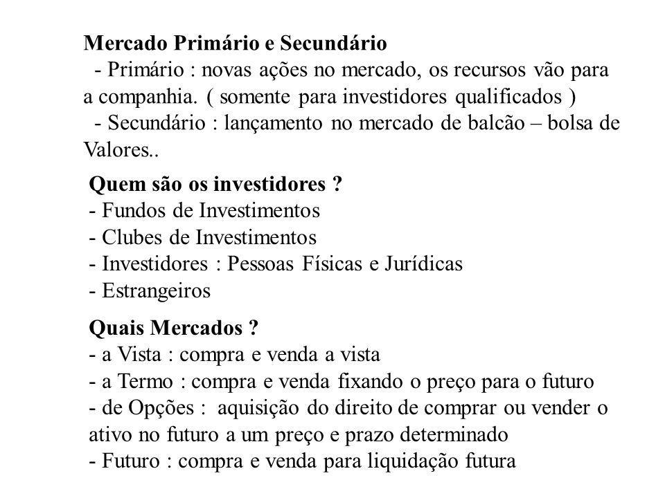 Mercado Primário e Secundário