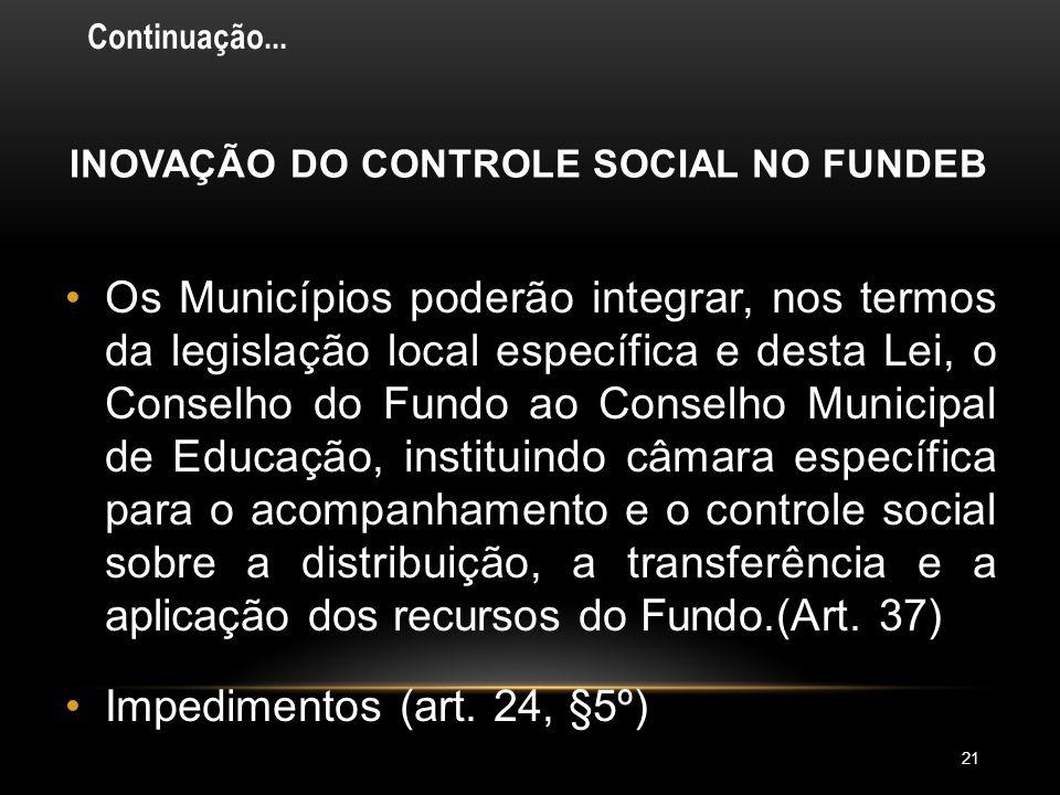 INOVAÇÃO DO CONTROLE SOCIAL NO FUNDEB