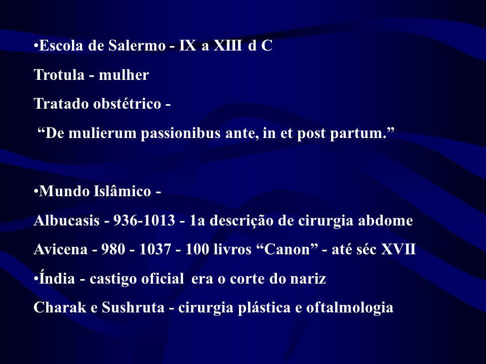 Escola de Salermo - IX a XIII d C