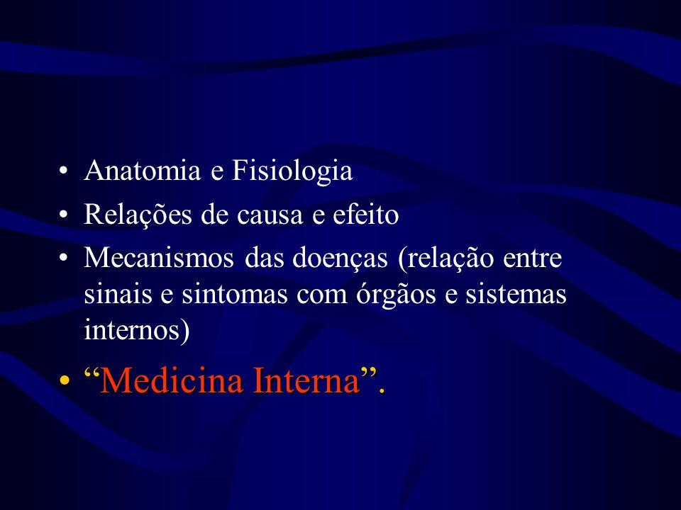Medicina Interna . Anatomia e Fisiologia Relações de causa e efeito