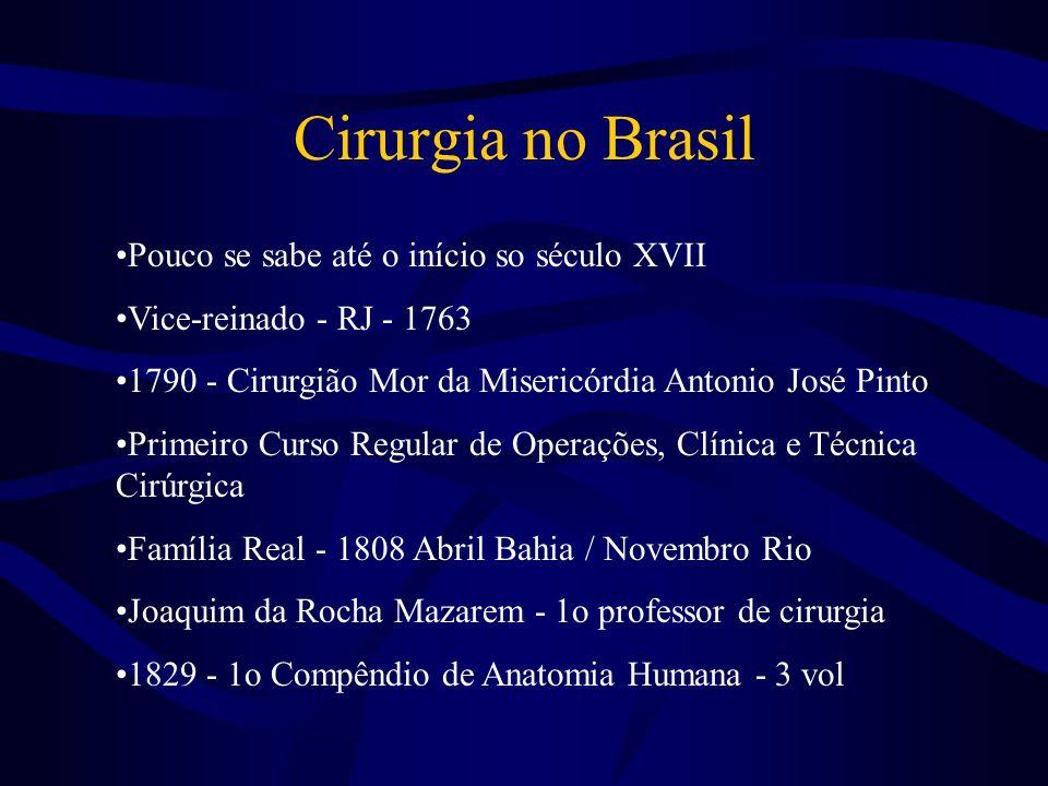 Cirurgia no Brasil Pouco se sabe até o início so século XVII