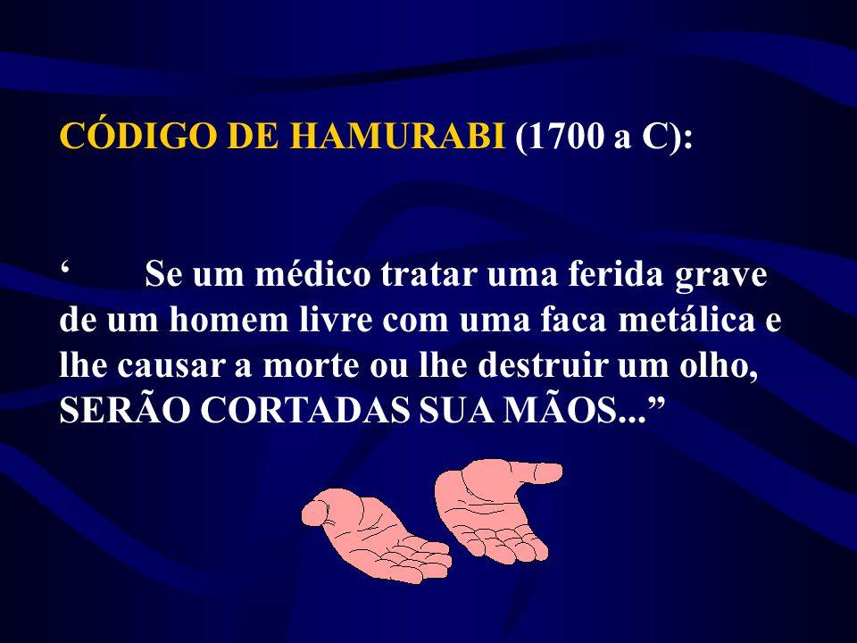 CÓDIGO DE HAMURABI (1700 a C):