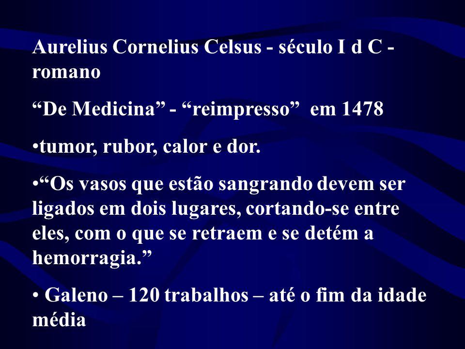 Aurelius Cornelius Celsus - século I d C - romano
