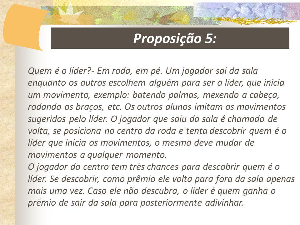 Proposição 5: