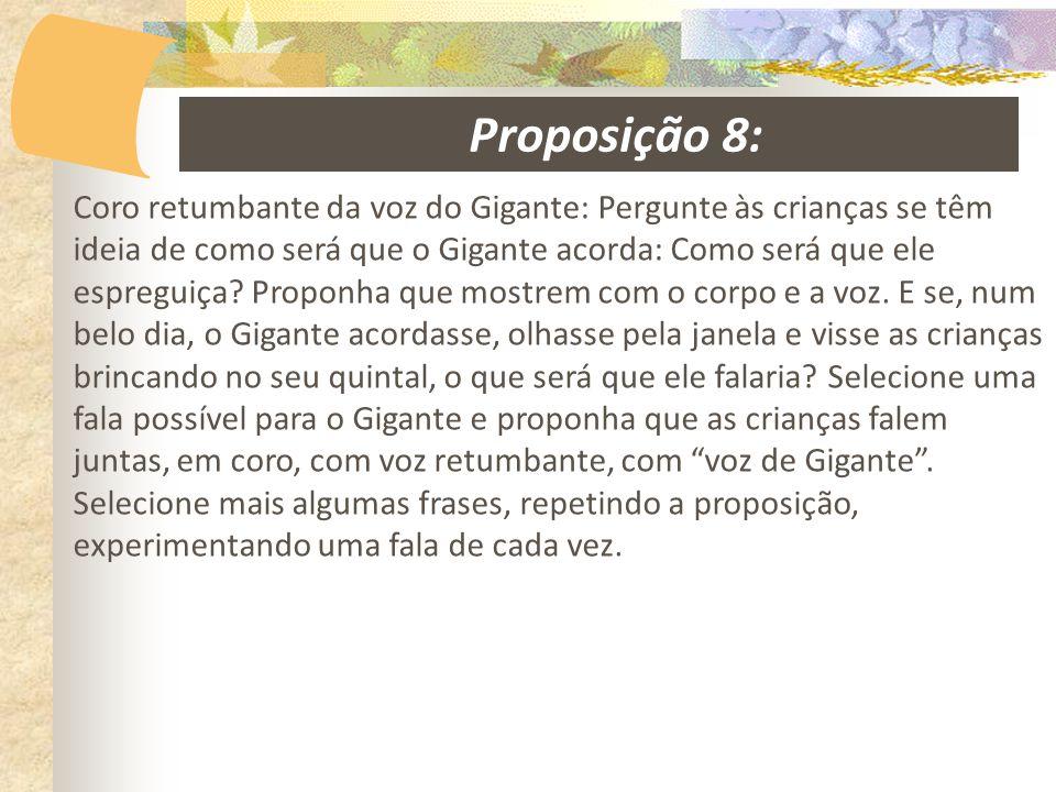 Proposição 8: