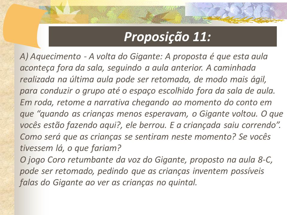 Proposição 11: