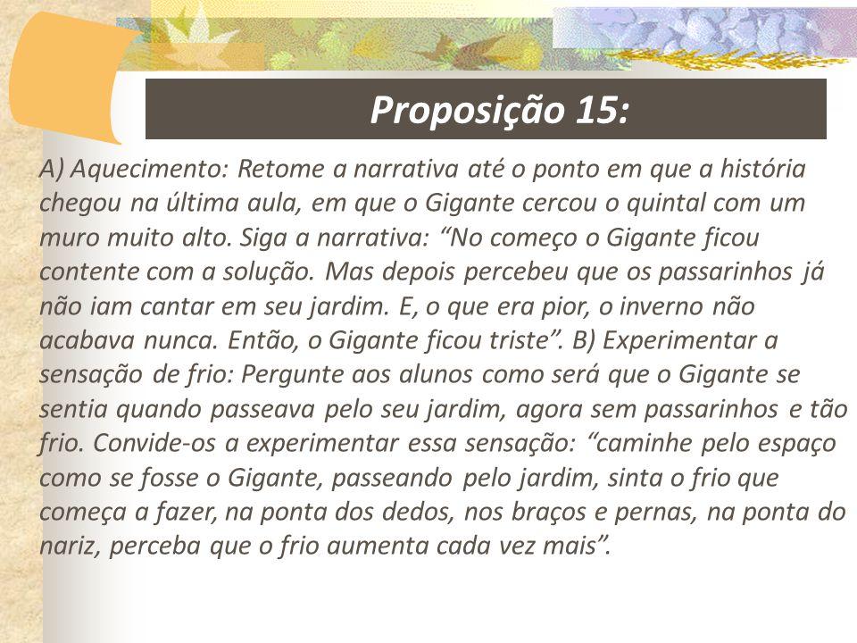 Proposição 15:
