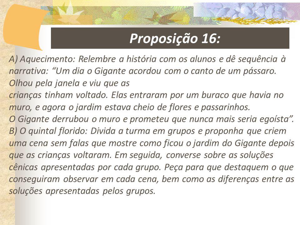 Proposição 16:
