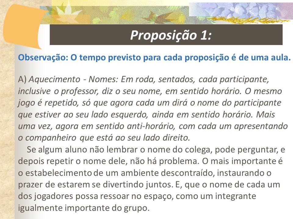 Proposição 1: