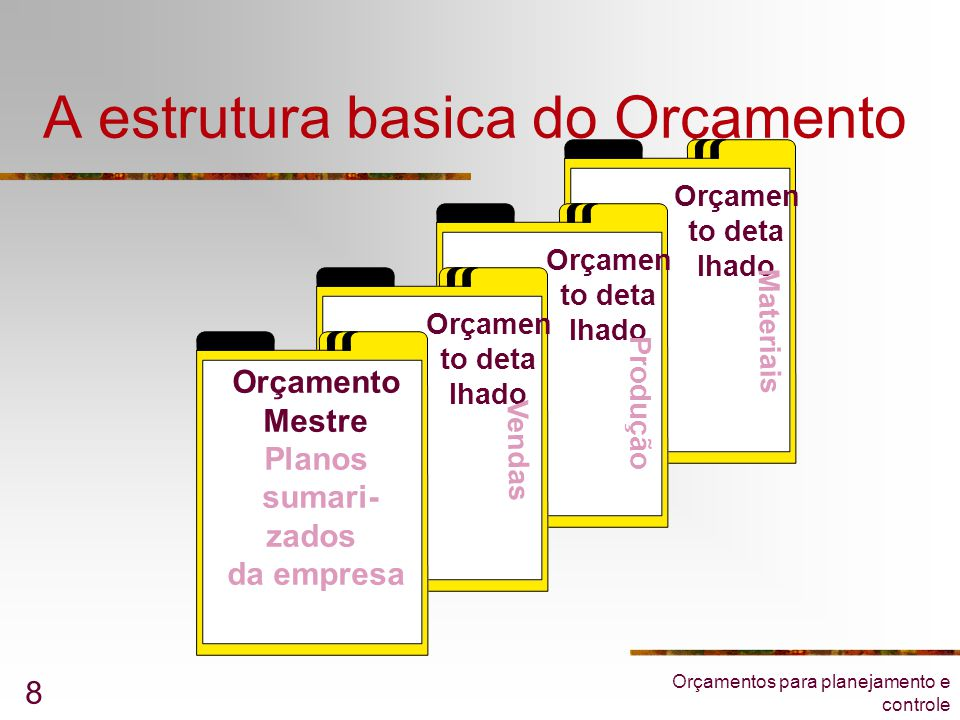 A estrutura basica do Orçamento