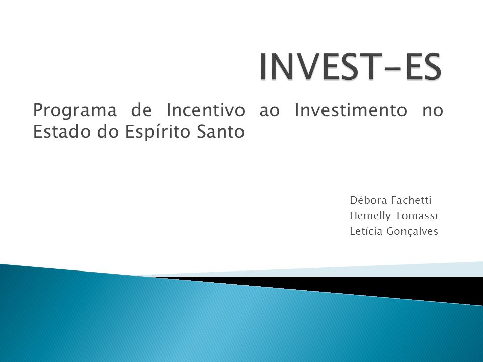Programa de Incentivo ao Investimento no Estado do Espírito Santo