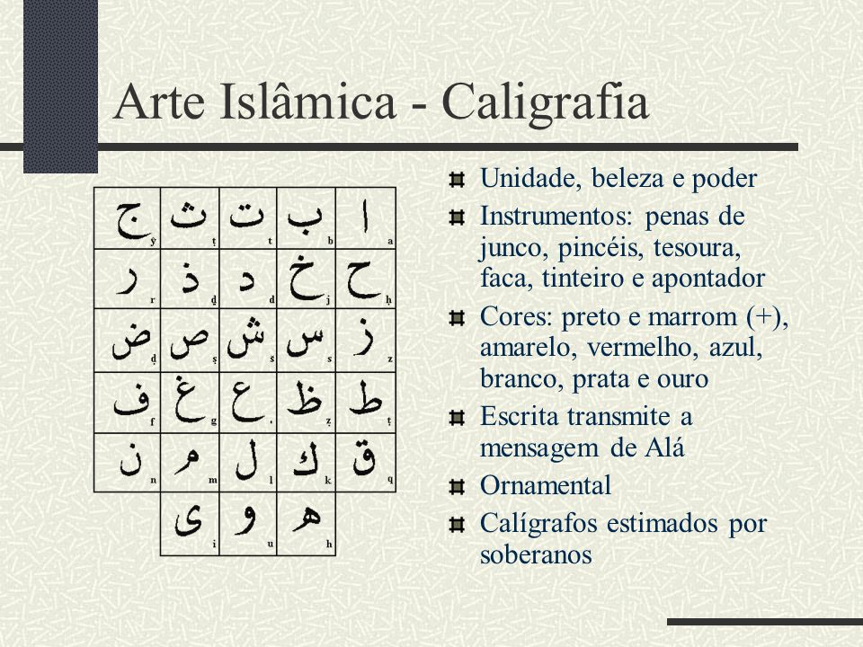 Arte Islâmica - Caligrafia
