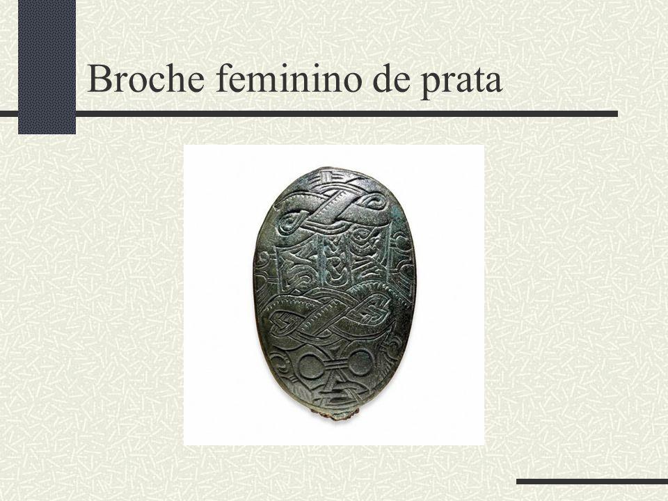 Broche feminino de prata