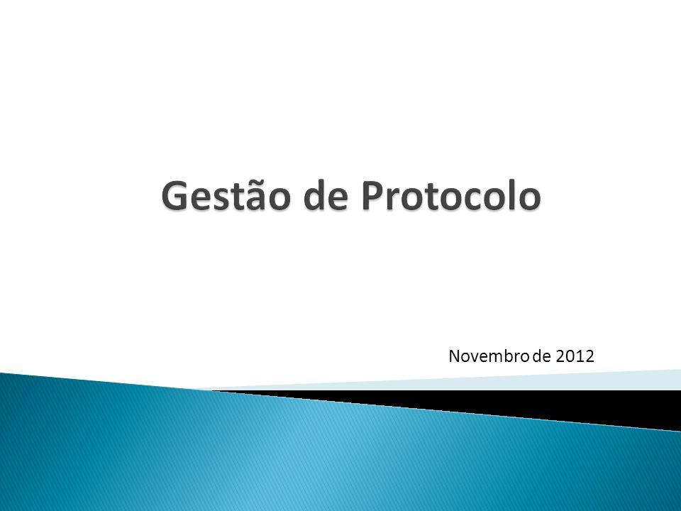 Gestão de Protocolo Novembro de 2012