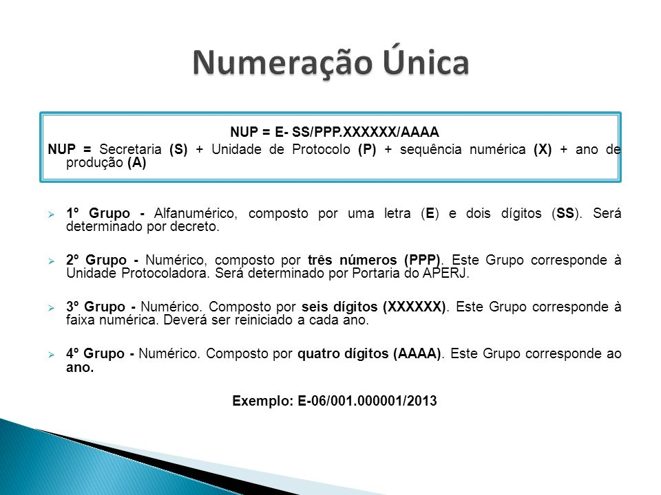NUP = E- SS/PPP.XXXXXX/AAAA