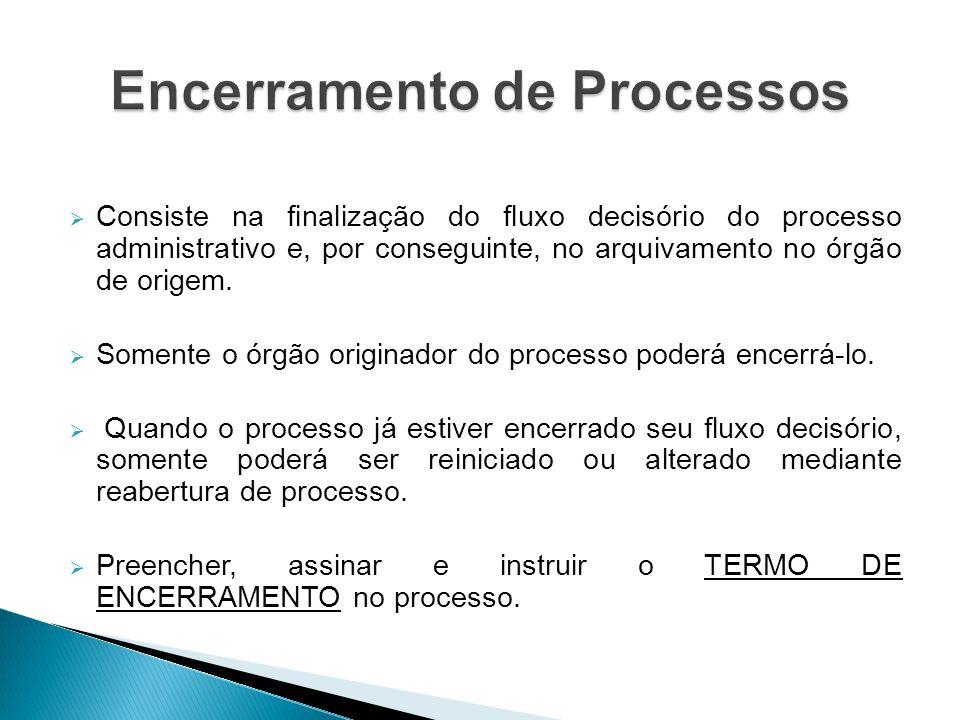 Encerramento de Processos