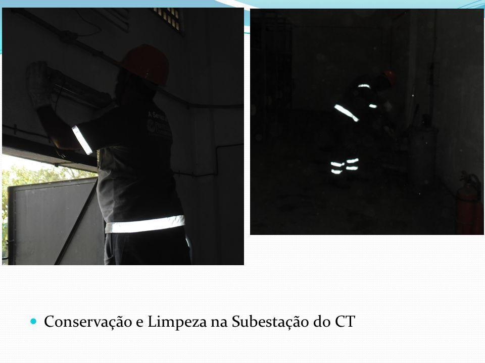 Conservação e Limpeza na Subestação do CT