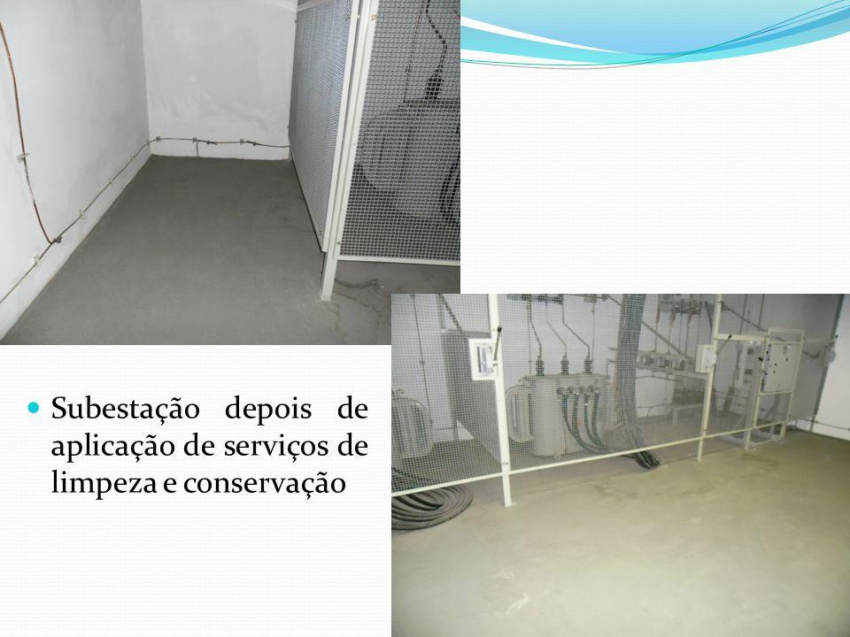 Subestação depois de aplicação de serviços de limpeza e conservação