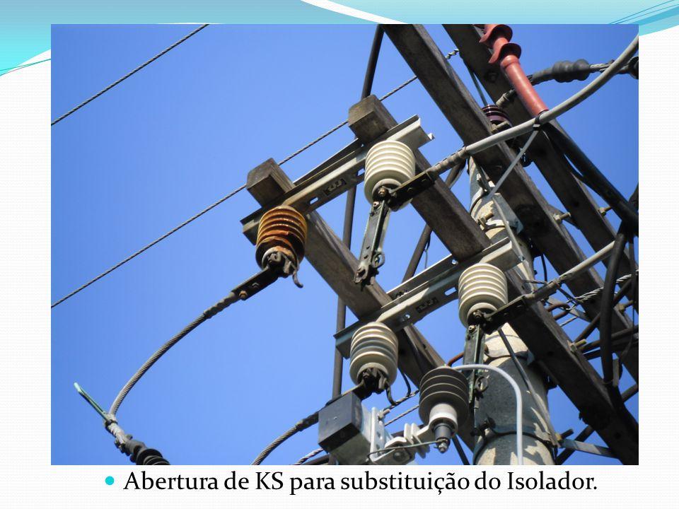 Abertura de KS para substituição do Isolador.