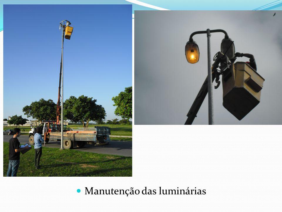 Manutenção das luminárias