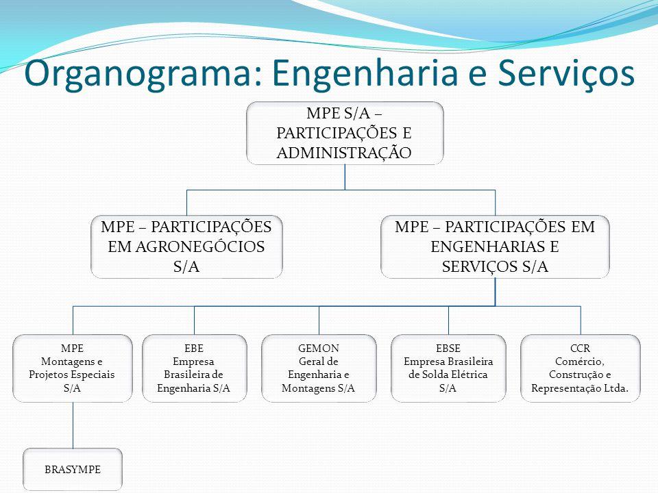 Organograma: Engenharia e Serviços