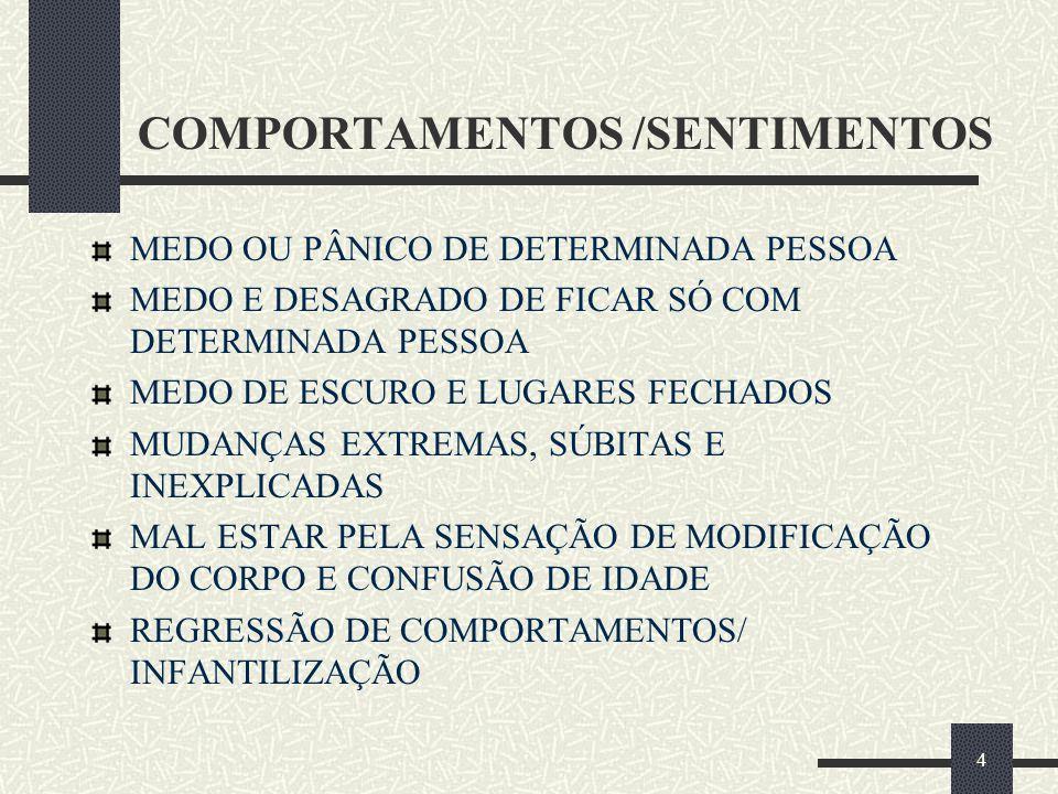 COMPORTAMENTOS /SENTIMENTOS