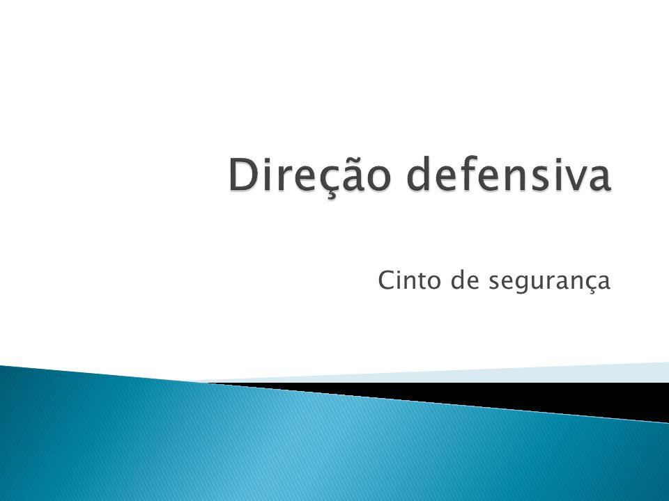 Direção defensiva Cinto de segurança