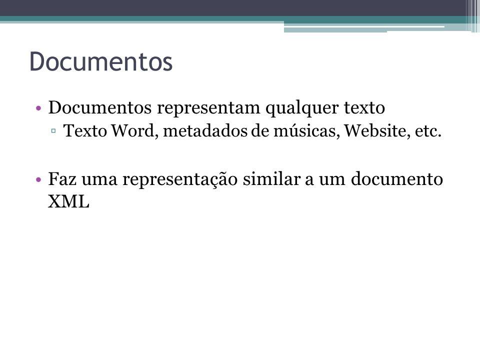 Documentos Documentos representam qualquer texto