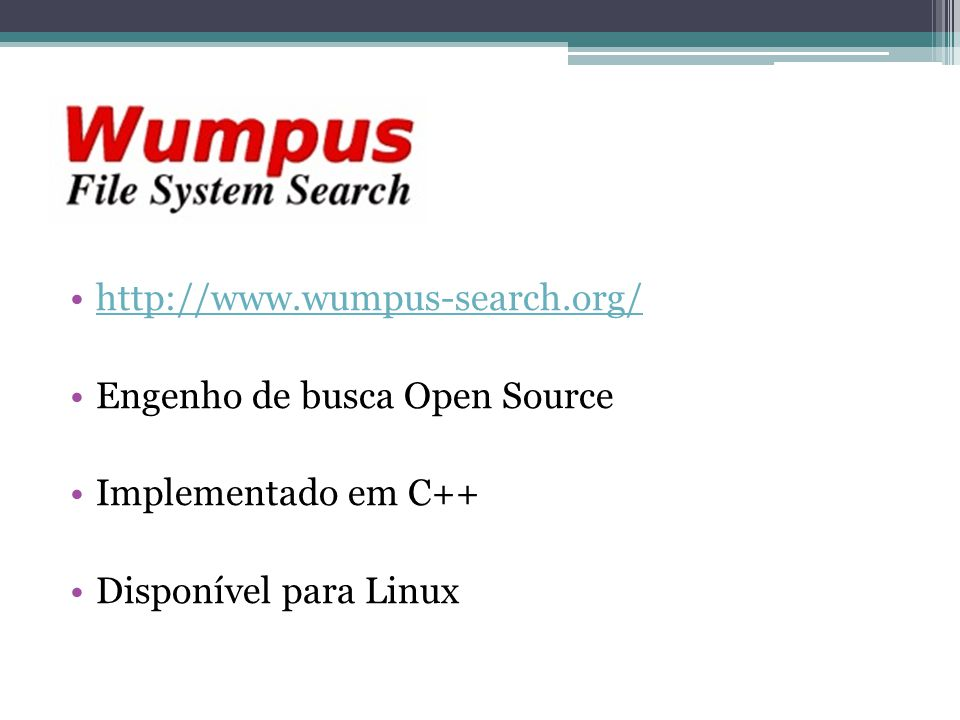 http://www.wumpus-search.org/ Engenho de busca Open Source.