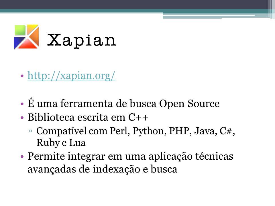 É uma ferramenta de busca Open Source Biblioteca escrita em C++