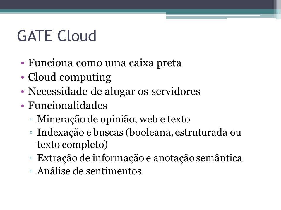 GATE Cloud Funciona como uma caixa preta Cloud computing