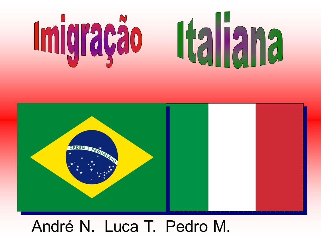 Imigração Italiana André N. Luca T. Pedro M.