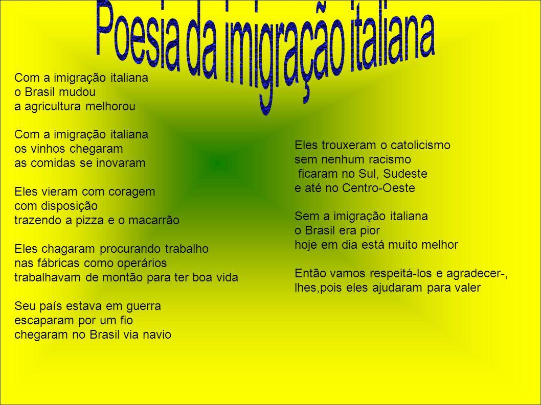 Poesia da imigração italiana