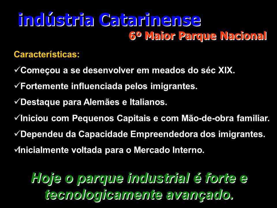 indústria Catarinense 6º Maior Parque Nacional