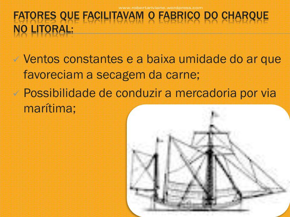fatores que facilitavam o fabrico do charque no litoral: