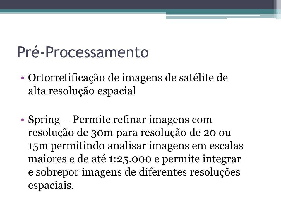 Pré-Processamento Ortorretificação de imagens de satélite de alta resolução espacial.
