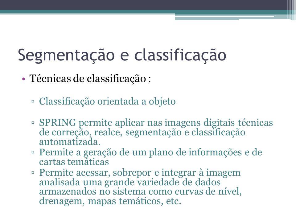 Segmentação e classificação