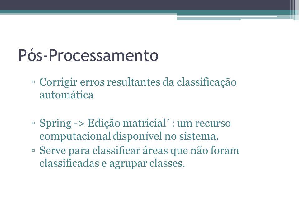 Pós-Processamento Corrigir erros resultantes da classificação automática.