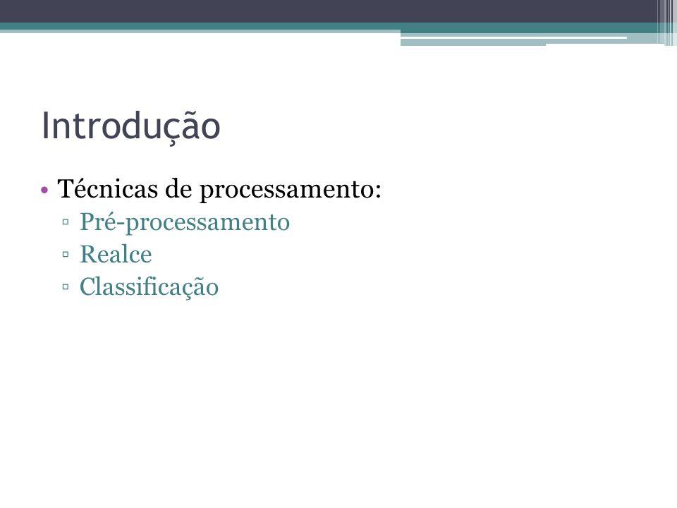 Introdução Técnicas de processamento: Pré-processamento Realce