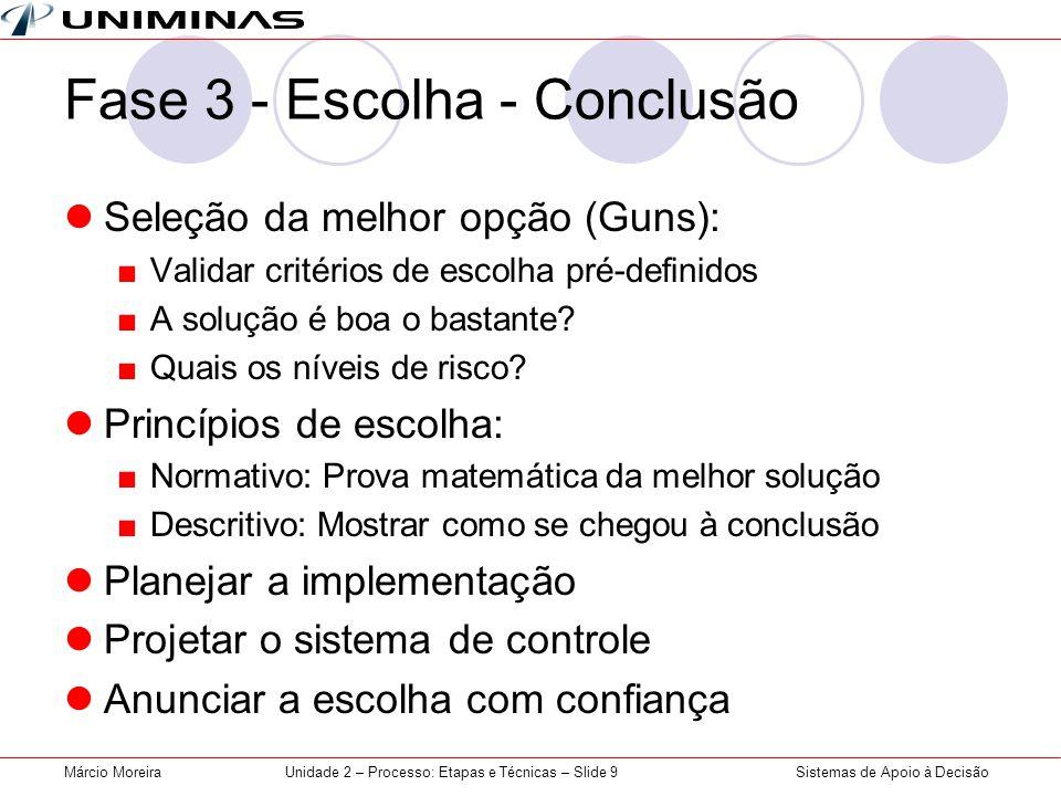 Fase 3 - Escolha - Conclusão