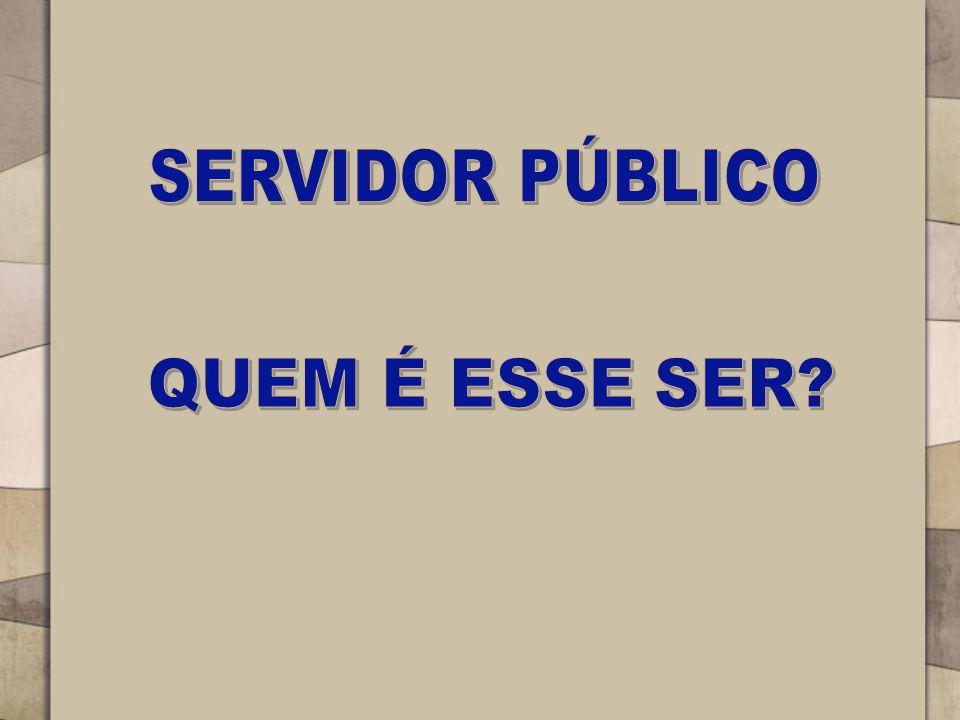 SERVIDOR PÚBLICO QUEM É ESSE SER