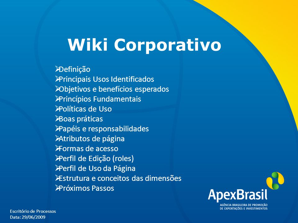 Wiki Corporativo Definição Principais Usos Identificados