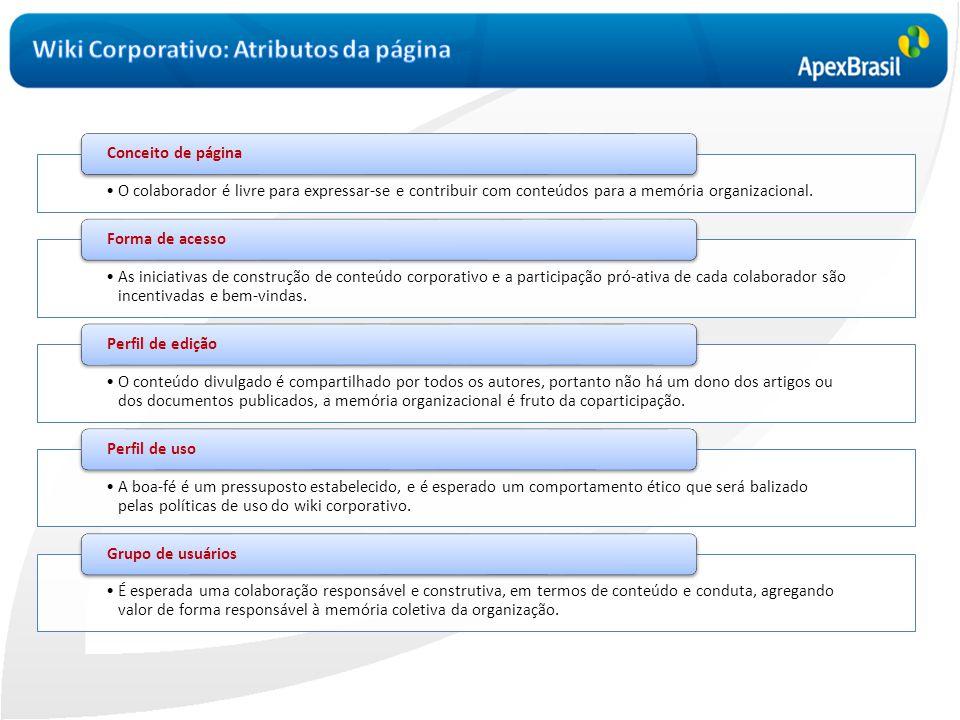 Wiki Corporativo: Atributos da página