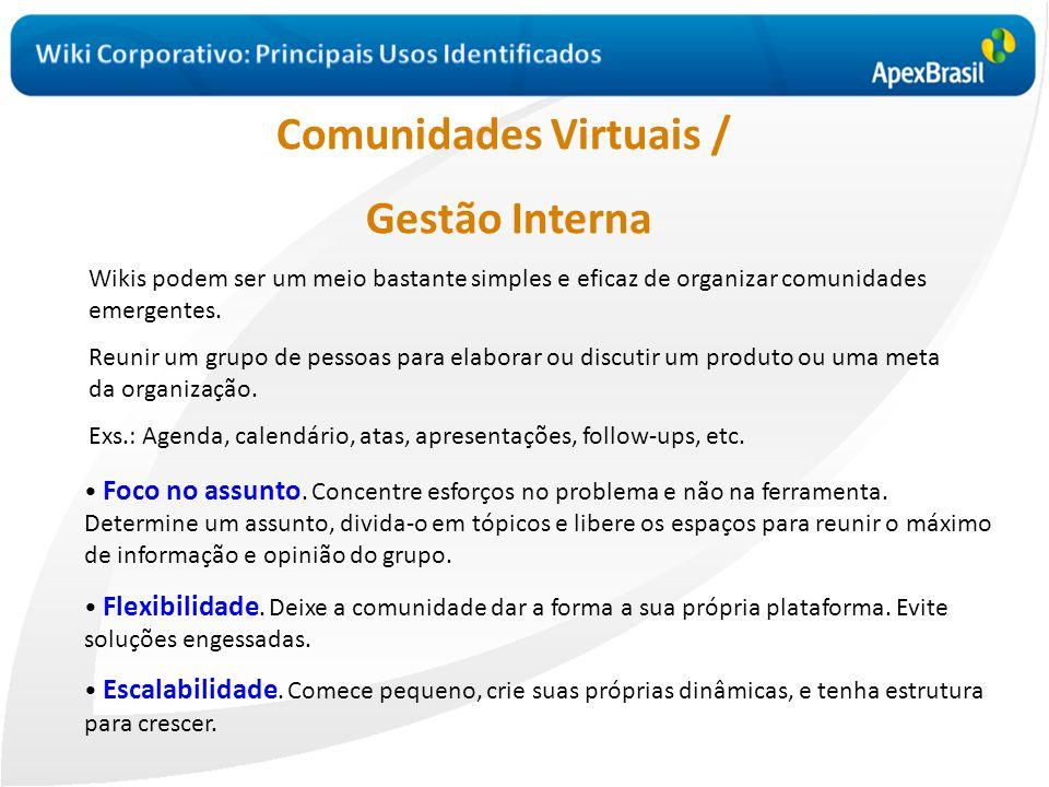 Comunidades Virtuais /