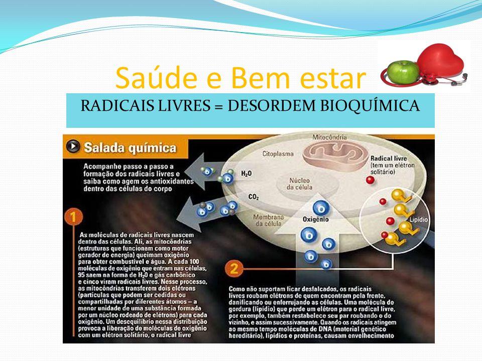 RADICAIS LIVRES = DESORDEM BIOQUÍMICA